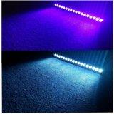 옥외 선형 정착물 18X15W RGBWA+UV 6in1 LED 벽 세탁기
