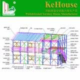 倉庫EPSサンドイッチ建築材料の容器の家のための二重階の現代プレハブの家