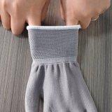 13 Anzeigeinstrument-graue Polyester-Zwischenlage graue PU, die überzogene Handschuhe eintaucht