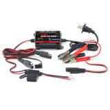 Chargeur imperméable à l'eau 6V/12V de flotteur de la batterie 0.75A pour le véhicule, moto, marine