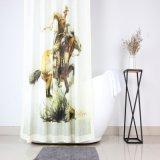 Cowboy del oeste Diseño de impresión personalizada cortina de ducha de poliéster para baño