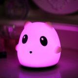 Indicatore luminoso animale caldo del bambino della lampada della Tabella di notte del silicone di Sale8colors LED