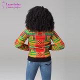 De nouveaux vêtements africains d'hiver Dashiki imprimé veste à manchon long