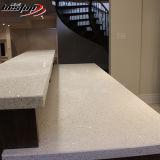Homem natural feita cozinha e casa de banho de pedra cristal de quartzo branca bancada