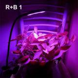 タイマークリップLEDを薄暗くする新しい二重ヘッド18Wは屋内プラントのために軽く育つHydroponicsの庭のホームが照明を育てる