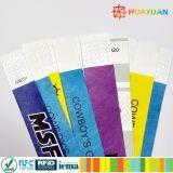 Wegwerf-RFID Tyvek Papierarmbänder des Ereignis-Zugriffs-
