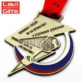 Médaille faite sur commande bon marché de Trophie de sport en métal de récompense de fonctionnement de premier de vente constructeur de la Chine aucune commande minimum