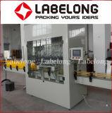 Linear automática/Alvejante reta de Enchimento de garrafas de rotulação de nivelamento da máquina de embalagem