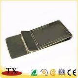 Clip d'argent en métal de qualité pour le détenteur de carte de côté