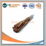 Alésoirs unique de carbure de tungstène flûte droite