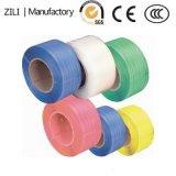 Impreso de color verde de plástico polipropileno PP Correa para el embalaje de cartón