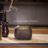 Mini difusor ultrasónico del aroma de los petróleos esenciales del aire del grano de madera oscuro