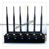 2g/3G/4G Cellphone +Wi-Fi+Gpsl1 Adjustable 6 Bands Jammer, with Because To charge and Refillable Battery