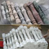 Pasamano de piedra automático de la cortadora del torno/proceso de la columna del granito/de mármol