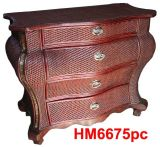 De madera muebles de junco tejido (HM6675pc).