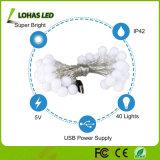 Licht des USB-imprägniern 5m Zeichenkette-10m warmes dekoratives LED weißes Weihnachten
