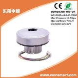 Ventilateur industriel de ventilateur d'aspiration avec le ventilateur élevé de centrifugeur de C.C de flux d'air