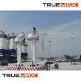 La entrega de hormigón maquinaria para el auge de la colocación de barreras a la autopista