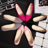Zapatos ocasionales bajos de los varios de los colores del ante zapatos planos dulces inferiores de goma de la muchacha solos