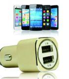 Высококачественные металлические двойные порты USB автомобильное зарядное устройство 5V2a