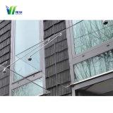 Vidro laminado/ temperado toldos/Marquise/Galpão de chuva para vidro de construção