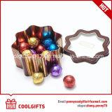 Ronda mayorista de caramelos de menta tin box para embalaje de regalo