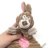 애완 동물 장난감 제품 토끼 Squeaker 견면 벨벳 개 장난감