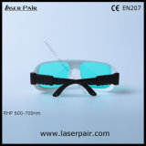 Laserpair에서 635nm 650nm 694nm 빨간 Lasers를 위한 레이저 안전 유리 Eyewear의 50% 투과율