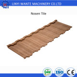 Azulejo de material para techos revestido de Nosen de servicio de la vida de construcción de la piedra larga del material