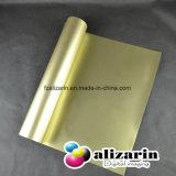 PU Cuttable Vinly del brillo de oro para la ropa