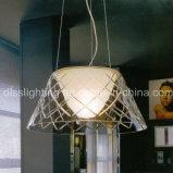 Iluminação de vidro transparente do pendente do estilo simples para a lâmpada de suspensão da decoração Home