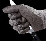 Hppe schnitt beständige Handschuhe PU, die mit hoher Grad-Stufe beschichtet wurde