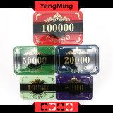 Набор микросхем казина chipset/покера кроны высокой ранга изготовленный на заказ пластичный акриловый с алюминиевым случаем (YM-SCMA003)