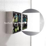 Шкаф зеркала ванной комнаты мебели нержавеющей стали овальный (7021)