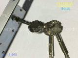 Verrouillage de porte en attelage en aluminium pour porte coulissante / clé croisée 51055