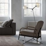 Maravilhoso Design Moderno Vidro Pavimento Prateleira Luminária para sala de estar