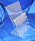 Personnaliser Clear Acrylic Menu Holder Desktop Sign Holder Display