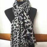 Les femmes vendent l'écharpe acrylique avec l'impression animale (HW07)