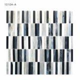 Mosaico in bianco e nero di vetro macchiato di semplicità per la parete