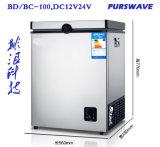 Diepvriezer -18degree van de Batterij van de Koelkast DC12V24V48V van de Ijskast van de Diepvriezer van Purswave 100L gelijkstroom de Draagbare Zonne