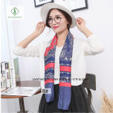 Europe Cravat Silk Stain Fashion Lady Echarpe Factory
