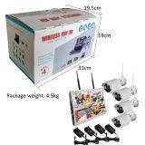 """Mini 4chs 1.0megapixels WiFi Kits de NVR cámara IP inalámbrica con monitor de 10,1"""" construido en el disco duro 1TB"""