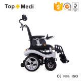 Topmedi High End Reclinar encosto cadeira de rodas com mobilidade elétrica mobilidade