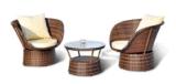 Des meubles en rotin de loisirs de plein air Président et de table-1