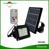 20 RGB LED를 가진 옥외 LED 태양 플러드 빛은 정원, 안뜰, 갑판, 조경, 야드, 복도, 차고, 현관, 수영장을%s IP65를 방수 처리한다
