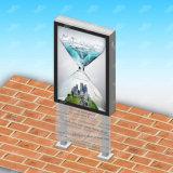 Perfil de aluminio al aire libre Caja de luz de giro Sign Publicidad Mupis pantalla