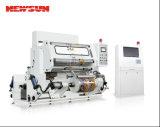 La máquina de alta velocidad el rebobinar de la película plástica con el PLC controló