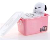 Contenitore di giocattoli di plastica del contenitore di regalo del contenitore di alimento di memoria della famiglia di plastica trasparente di piccola dimensione della casella (5L)