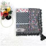 Lady Fashion foulard avec imprimé floral Tassel Twil Châle coton