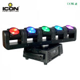 5X15W RGBW 4in1 화소 광속 반점 LED 이동하는 맨 위 빛